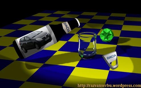 Dacia la sticla