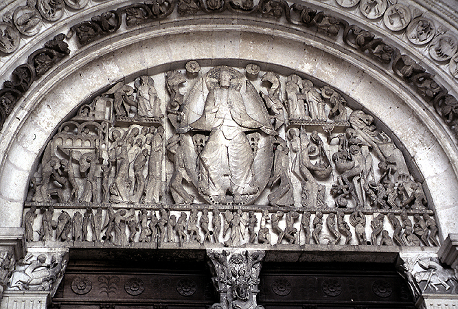 Celebrul Timpan de Vest al Catedralei Sf. Lazar din Autun