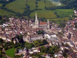 Catedrala din Autun vedere de sus